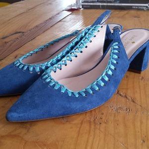 Kate Spade Madison Suede cobalt blue slingbacks